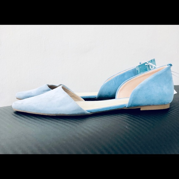 Old Navy Shoes - Pointed toe faux suede baby blue flats💙